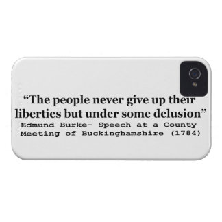 People Never Give Up Their Liberties Edmund Burke iPhone 4 Cover