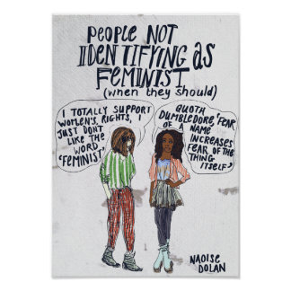People not identifying as feminist poster