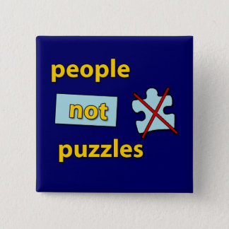 people not puzzles pinback button