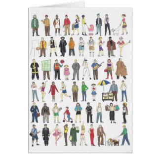 People NYC New York Illustrated Neighborhood Card