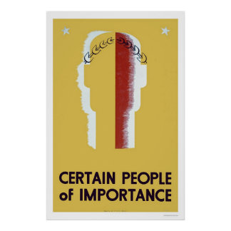 People Of Importance 1937 WPA Posters