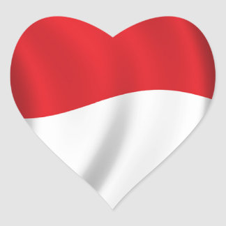 People of Indonesia Heart Sticker