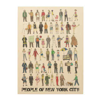 People of New York City NYC Watercolor Decor