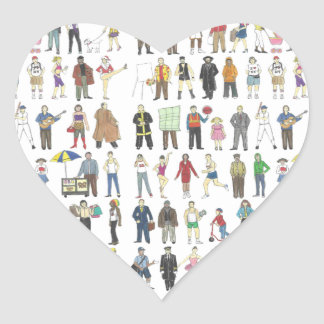 People of NYC New York City Heart Stickers