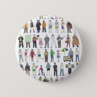 People of NYC New York City Neighborhoods Citizens Button