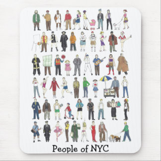 People of NYC New York Yorker City Mousepad