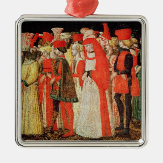 People of the Court of the Sforza Family Metal Ornament