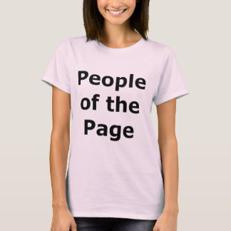 """""""People of the Page"""" Black on Light T-Shirt"""