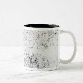 People of Various Occupations Two-Tone Coffee Mug