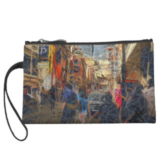 People on a city road wristlet