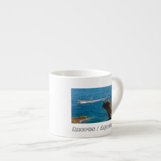 People on an islet espresso cup