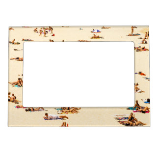 People On Beach Sandy Magnetic Frame