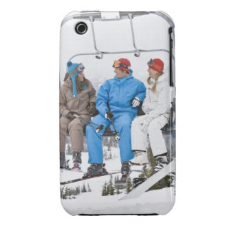 People on Ski Lift, Whistler-Blackcomb, British Case-Mate iPhone 3 Cases