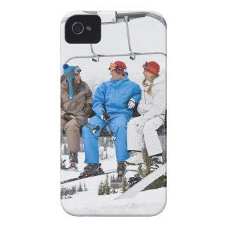 People on Ski Lift, Whistler-Blackcomb, British iPhone 4 Cover