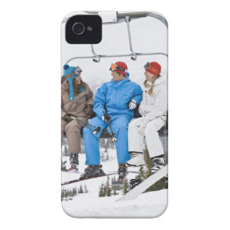 People on Ski Lift, Whistler-Blackcomb, British iPhone 4 Cases