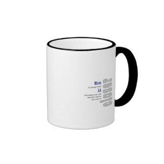 People On The Moon Ringer Coffee Mug