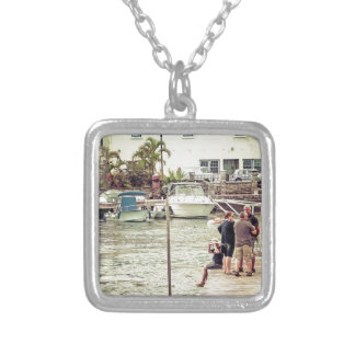 People on the pier 1 silver plated necklace