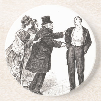 People One Knows Take One For A Butler Drink Coaster