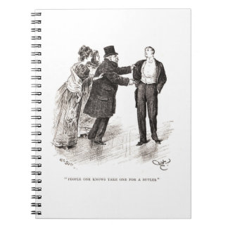 People One Knows Take One For A Butler Spiral Notebook