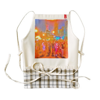 People outside on streets zazzle HEART apron