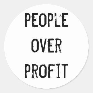 """People over profit"" Sticker"