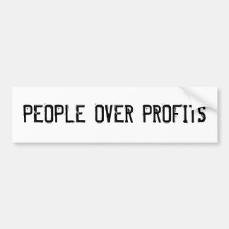 """People Over Profits"" Bumper Sticker"