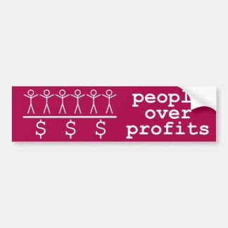 People Over Profits Car Bumper Sticker