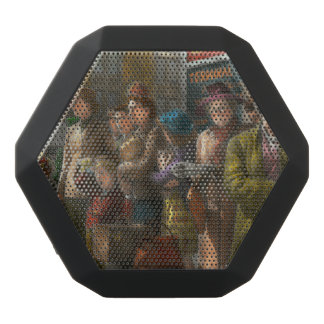 People - People waiting for the bus - 1943 Black Bluetooth Speaker