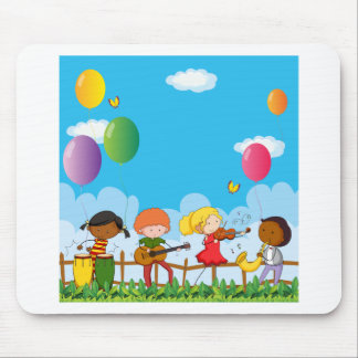 People playing musical instrument in the park mouse pad