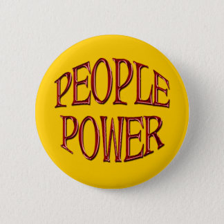 People Power Independence Motivation Gift Button