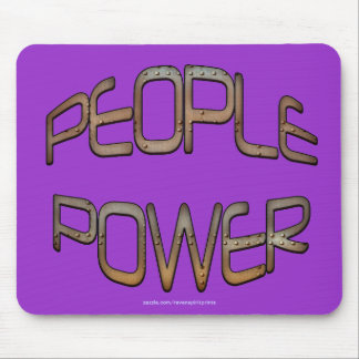 People Power Independence Motivation Mouse Pad