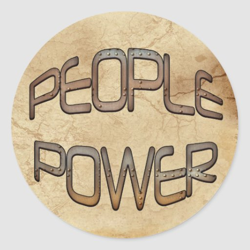 People Power Speak Out Motivation Gift Classic Round Sticker