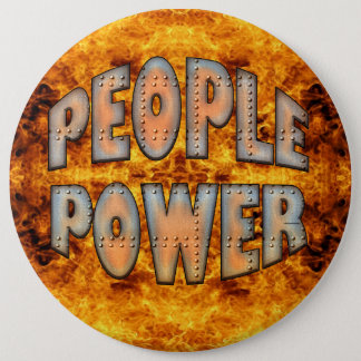 People Power Time for Change Motivation Gift Button