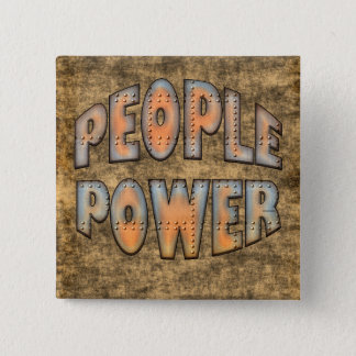 People Power Time for Change Motivation Gift Pinback Button