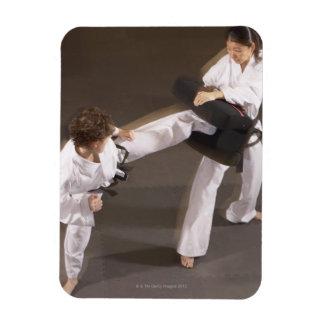 People practicing Tae kwon do Rectangular Photo Magnet