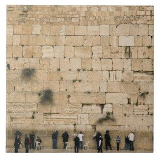 People praying at the wailing wall ceramic tile
