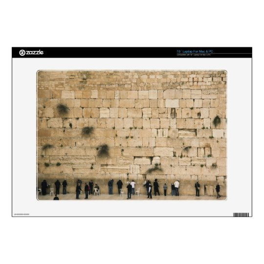 People praying at the wailing wall laptop decals