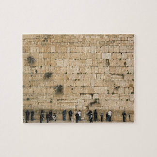 People praying at the wailing wall puzzle