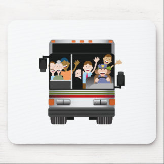 People Riding on a Bus Mouse Pad