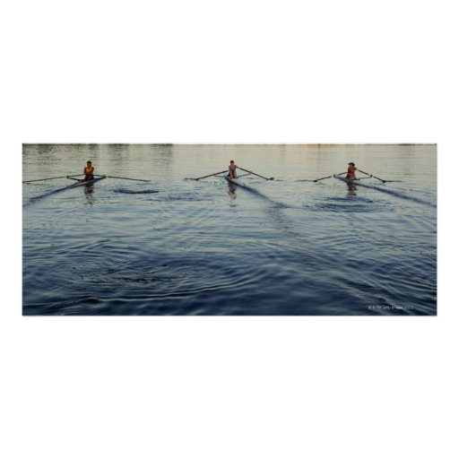 People Rowing Poster