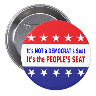 People s Seat Election Message Pinback Button