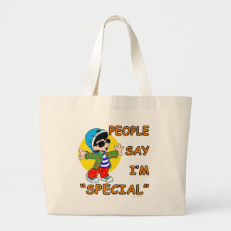 People Say I'm Special Large Tote Bag