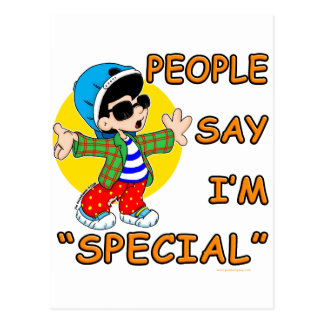 People Say I'm Special Postcard