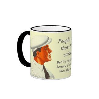 People Say That I'm Vain - Funny Retro Ringer Mug