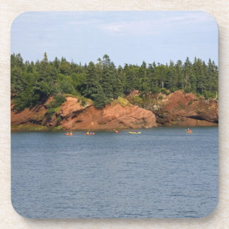 People sea kayaking in the Bay of Fundy at St. Beverage Coaster