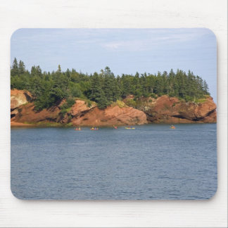 People sea kayaking in the Bay of Fundy at St. Mouse Pad