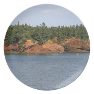 People sea kayaking in the Bay of Fundy at St. Dinner Plate