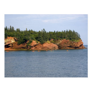 People sea kayaking in the Bay of Fundy at St. Postcard