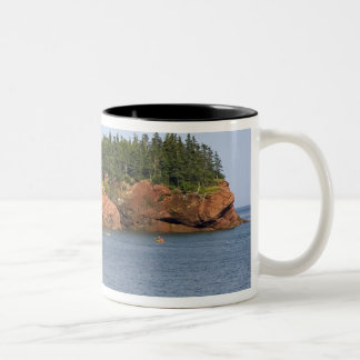 People sea kayaking in the Bay of Fundy at St. Two-Tone Coffee Mug