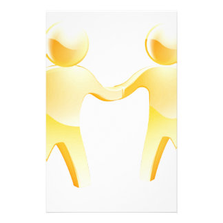 People shaking hands concept customised stationery